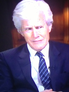 "Imagine this dude from Dateline is interviewing you. I tried to find out his name but since Googling ""old skeleton dude from Dateline"" didn't work then we'll never know."